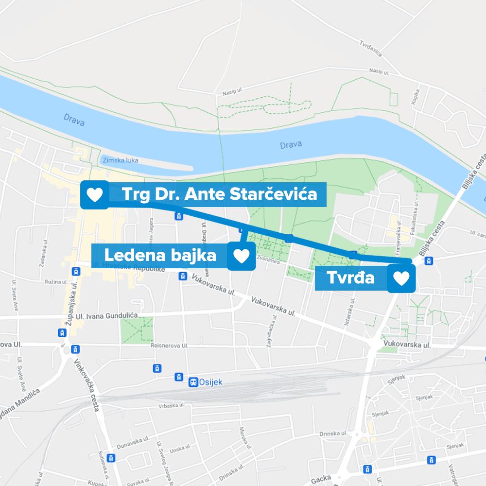 Osijek ruta